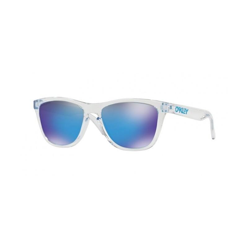 design senza tempo a4479 885b2 Oakley Occhiali Da Sole Frogskins Bianco Con Lenti Prizm Sapphire Uomo