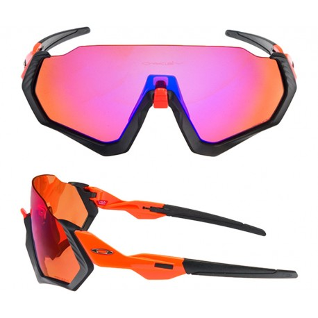 Oakley Occhiale Flight Jacket Matt Blk/Orng/Prizm Trail