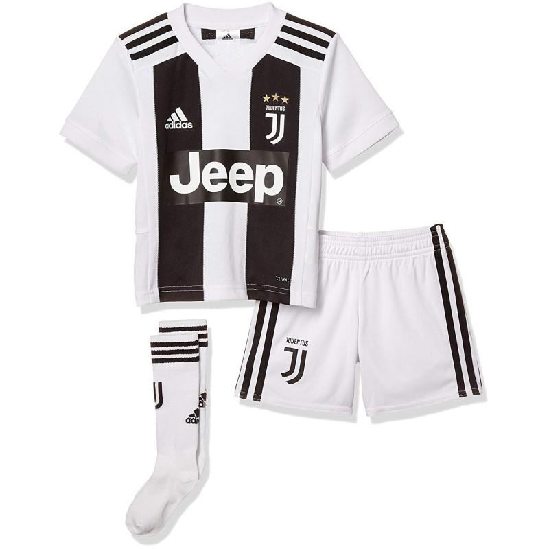 Adidas Set Bambino Juve Mini Home Nero/Bianco