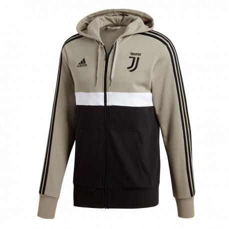 Adidas Felpa C/Capp Juve Full Zip Beige/Nero