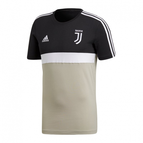 Adidas T-Shirt Mm Juve Stripes Nero/Beige