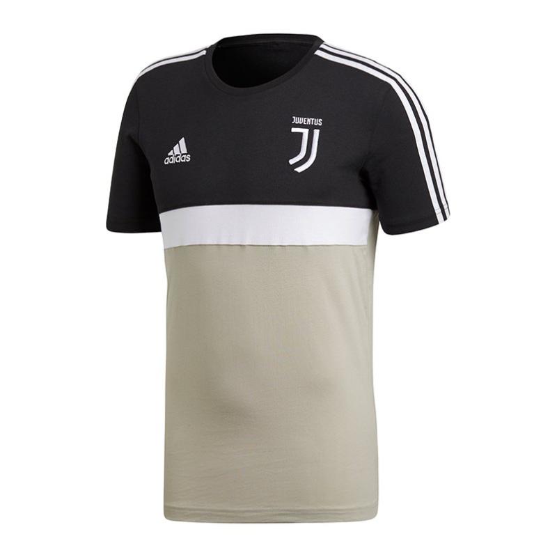 3cc1fefda Adidas T-Shirt Mm Juve Stripes Nero Beige CW8785 - Acquista online ...