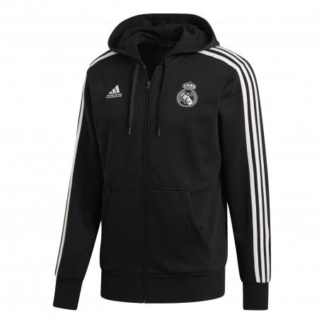 Adidas Fepla C/Capp Real Full Zip Nero/Bianco