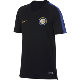 Nike T-Shirt Mm Bambino Inter Squad Training Nero/Royal