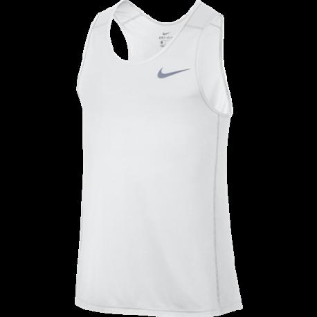 Nike Canotta Run Miler  White/White Donna