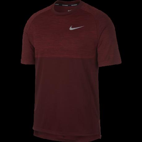 Nike T-Shirt Run Mm Dry Medalist  Red Crush/Burgundy Crush