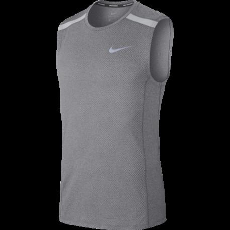 Nike Canotta Run Cool Miler  Anthracite/Htr/Wolf Grey
