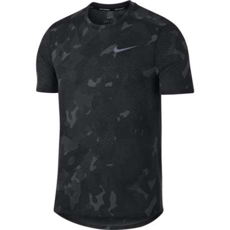 Nike T-Shirt Run Tailwind Pr  Black/Black