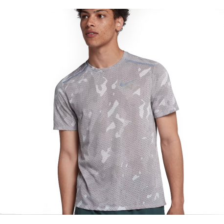 Nike T-Shirt Run Tailwind Pr  Atmosphere Grey/Metallic Silver