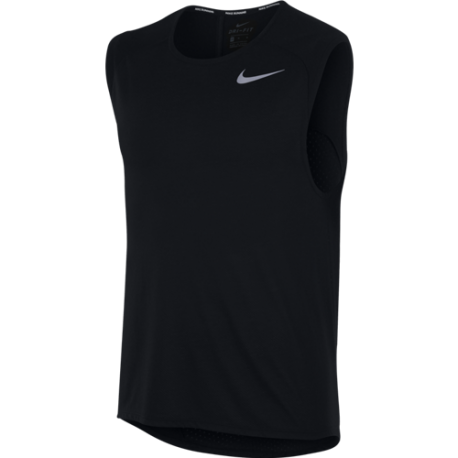 Nike Canotta Run Tailwind Slv Cl  Black