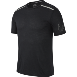 Nike T-Shirt Run Mm Tailwind Cl Gx  Black/Metallic Silver