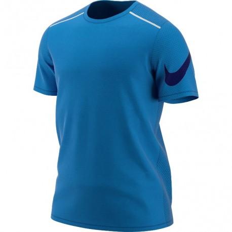 Nike T-Shirt Run Mm Tailwind Cl Gx  Signal Blue/Metallic Silv