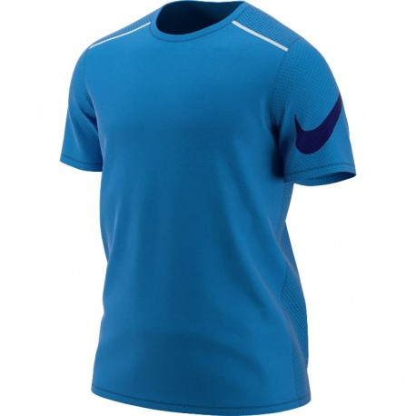 Nike T-Shirt Run Mm Tailwind Cl Gx  Signal Blue/Metallic Silv