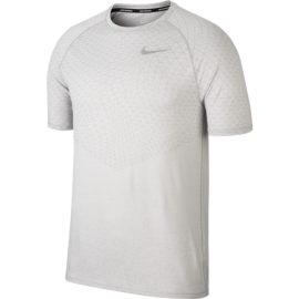 Nike T-Shirt Run Mm Medalist Nv  Atmosphere Grey/White