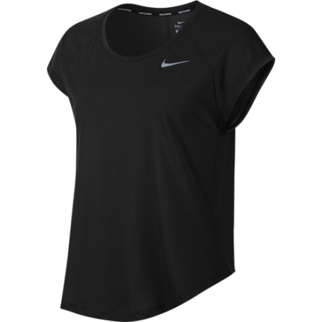 Nike T-Shirt Donna Run Mm Tailwind Top Cool Lx  Black