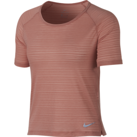 Nike T-shirt Donna Mm Run Miler Top Breathe Rust Pink/Htr