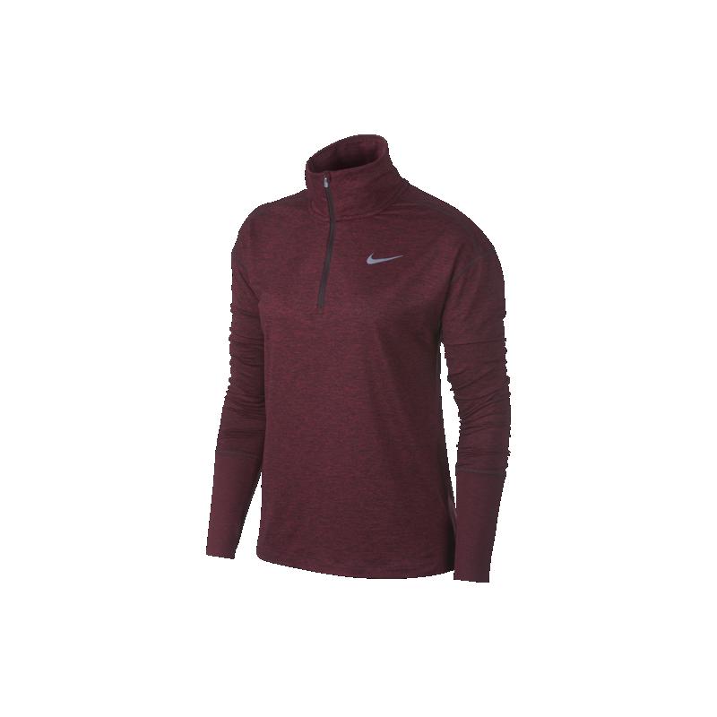 e675ebf1c030 Nike Shirt Donna Run Ml H Zip Elmnt Burgundy Crush AA4631-652 ...
