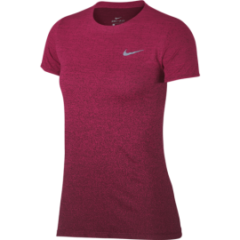 Nike Shirt Donna Run Mm Medalist  Rush Pink/Burgundy Crush
