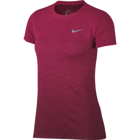 Nike Shirt Donna Run Mm Medalist  Rush Pink/Burgundy Crush