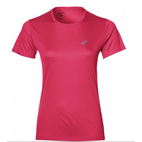 Asics T-Shirt Donna Mm Run Silver  Pixel Pink