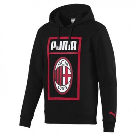 Puma Felpa Fan C/Cap Milan Nero