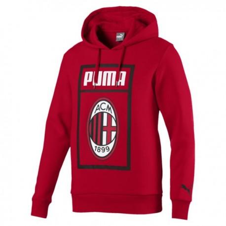 Puma Felpa Fan C/Cap Milan Rosso