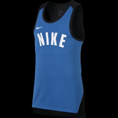 Nike Smanicato Dry Hprelt  Blu/Bianco