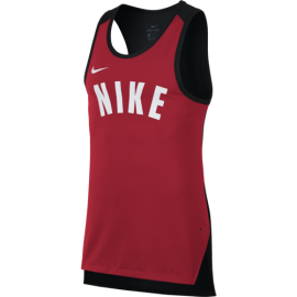 Nike Smanicato Dry Hprelt  Rosso/Bianco