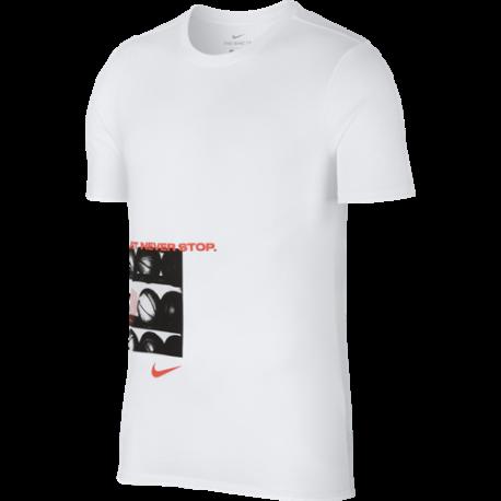 Nike T-Shirt Mm Dry Work  Bianco