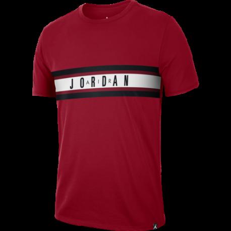 Nike T-Shirt Mm Jordan Graphic 4  Rosso/Bianco