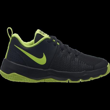 Nike Scarpa Jr Team Hustle Quick Gs  Nero/Lime