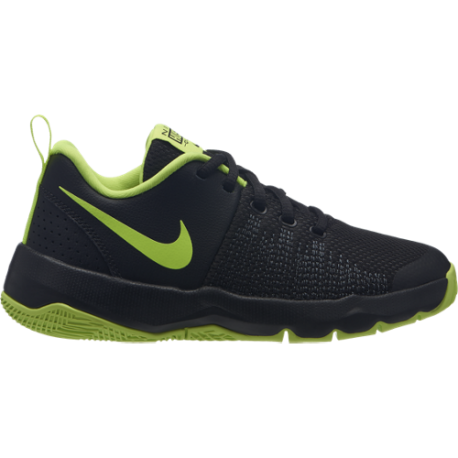 Nike Scarpa Jr Team Hustle Quick Gs  Nero/Lime