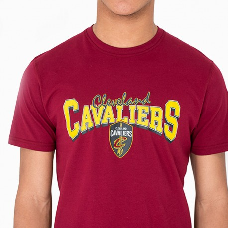 New Era T-Shirt Mm Nba Cleveland  Bordeaux/Giallo