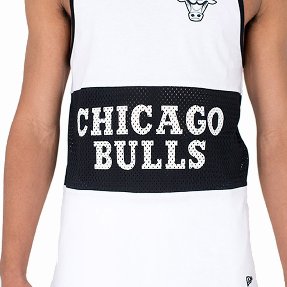 New Era Canotta Nba Mesh Chicago Bulls Bianco Nero 11604126 ... ff1eccfcdf8f
