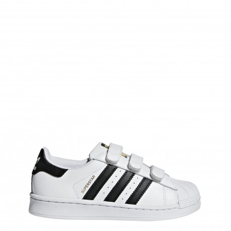 promo code ace3f d585e Adidas Junior Supersta Cf Ps Bianco Nero ...