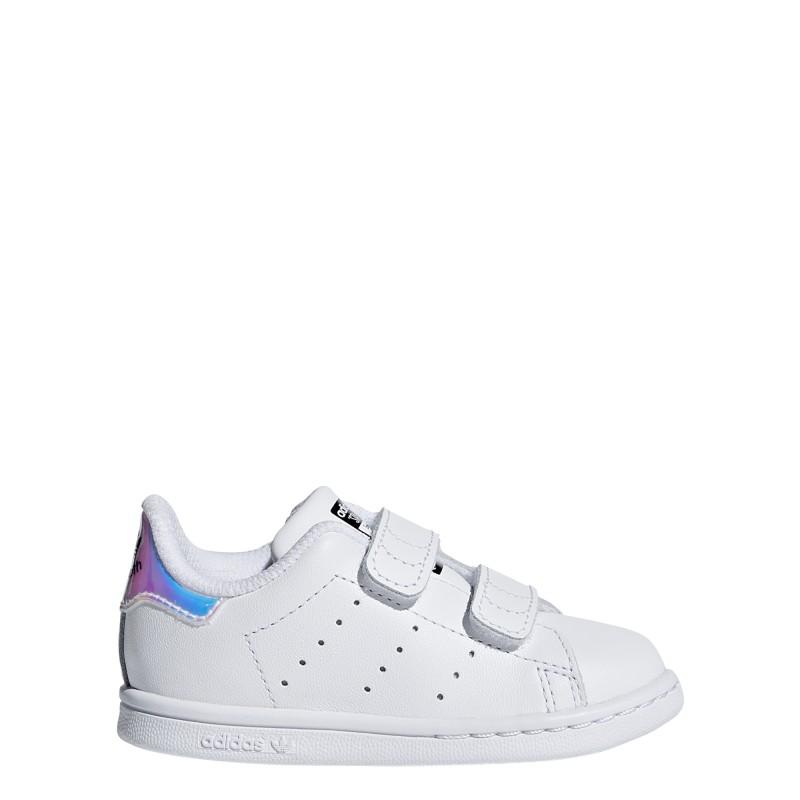 new product d453a bb4a2 Adidas Junior Stan Smith Cf I Td Bianco Multi