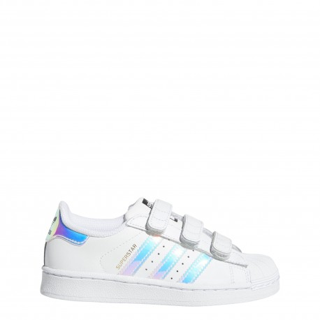 Adidas  Junior Superstar Cf I Ps  Bianco/Multi