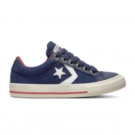 Converse  Junior Star Player Ox Suede Gs  Blu/Bianco
