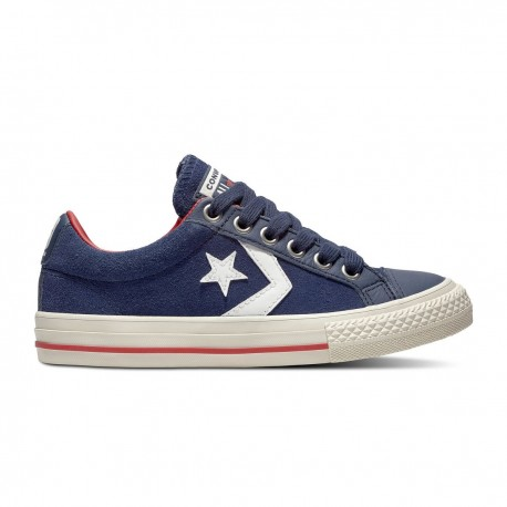 competitive price 22869 68a9b Converse Star Player Ox Suede Gs Blu Bianco Bambino Converse Star Player Ox  Suede Gs..
