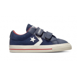 Converse  Junior Star Player Ox Velcro Suede Td  Blu/Bianco