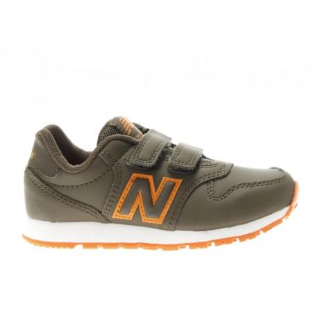 New Balance Junior 500 Neon Verde/Arancio