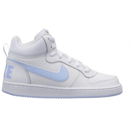 Nike  Junior Court Borough Mid Gs  Bianco/Azzurro