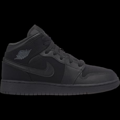 Nike  Junior Air Jordan 1 Mid Bg  Nero/Bianco
