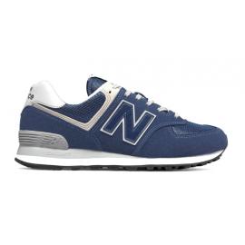 New Balance Sneakers 574 Mesh Suede Blu Uomo
