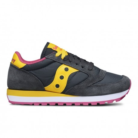 Saucony Charcoal Yellow Jazz Originals Donna