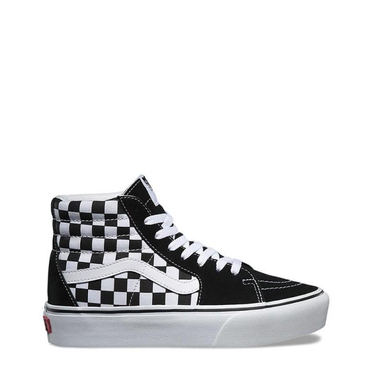 scarpe vans alte con scacchi