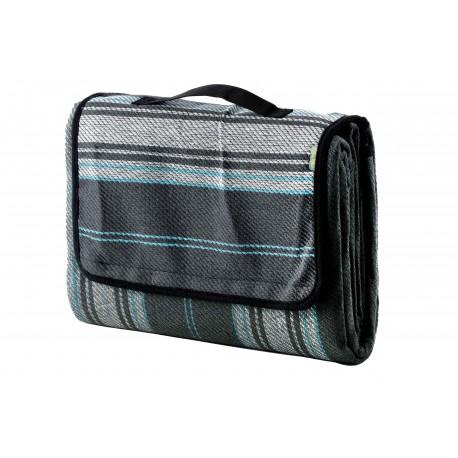 Meru Coperta Picknick Woodstock Grey/Stripe