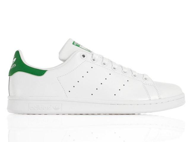 ADIDAS originals sneakers stan smith lea bianco verde uomo