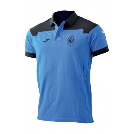 Joma Sport Polo Mm Atalanta Azzurro/Nero