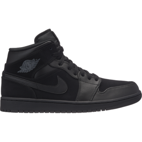 Nike Air Jordan 1 Mid Black Uomo